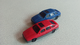 Hornby plastic scenery cars x2 ford Sierra  red blue